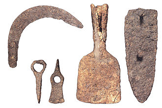 La Bastida de les Alcusses - Agricultural tools recovered at the site