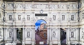 Teatro Olimpico, stage wall