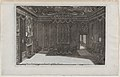 Interior with a Canopy Bed and a Row of Chairs Lining the Walls, from Nouveaux Liure da Partements, part of Œuvres du Sr. D. Marot MET DP874080.jpg