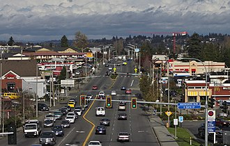 Tukwila, Washington - International Boulevard from 154th Street