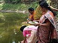 Inviting Goddess Ganga - Hindu Sacred Thread Ceremony - Simurali 2009-04-05 4050061.JPG
