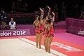 Israel Rhythmic gymnastics at the 2012 Summer Olympics (7915333840).jpg
