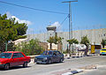 Israeli separation barrier with watchtower from Bethlehem side.jpg