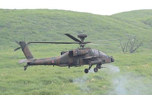 JGSDF AH-64D FV higashi fuji Firing Space