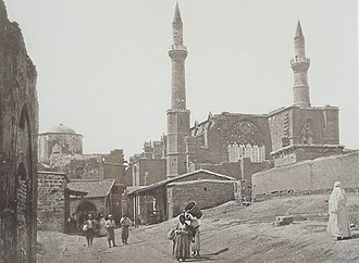 Selimiye Mosque, Nicosia - Selimiye Mosque in 1878, immediately after the British takeover of the city