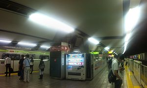 Meguro Station - The Yamanote Line platforms, June 2014