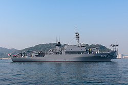 JS Nichinan departs the Port of Yokosuka, -30 Oct. 2009 a.jpg