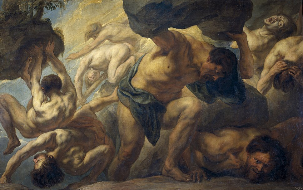 Jacob Jordaens - La caída de los Gigantes, 1636-1638
