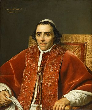 Portrait of Pope Pius VII - Image: Jacques Louis David 018