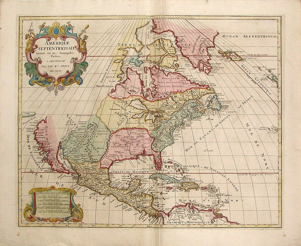 Jaillot-Elwe, Norteamerica, 1792