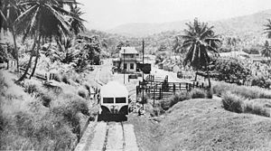 Buff Bay, Jamaica - Buff Bay Station in 1960.