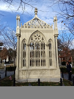 James Monroe Tomb - Second view of James Monroe's tomb as it looked after its restoration and renovation in 2016.