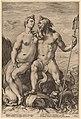 Jan Pietersz Saenredam, after Hendrick Goltzius, Neptune and Amphitrite, c.1594, NGA 154023.jpg
