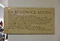 Jan Rodowicz Anoda tablica pamiątkowa gmach Wydziału Architektury PW.JPG
