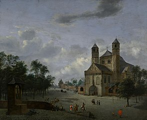 View of St. Pantaleon in Cologne