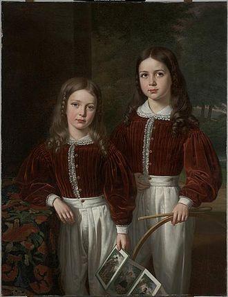 Jean Joseph Vaudechamp - Portrait of two Children, 1841, Dallas Museum of Art