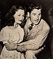 Jeanne Crain dancing with her husband Paul Brooks at the Mocambo, 1946.jpg