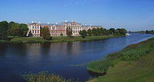 Jelgava Palace - Jelgava palace from across the Lielupe river.