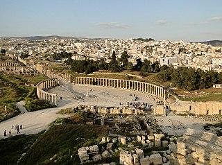 Jerash City in Jerash Governorate, Jordan