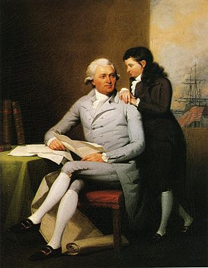 Jeremiah Wadsworth - Image: Jeremiah Wadsworth and His Son Daniel John Trumbull 1784