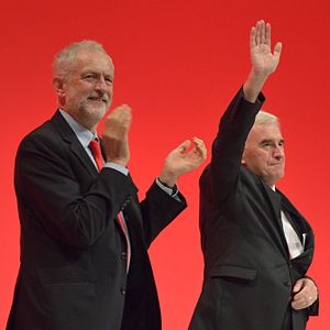 John McDonnell - McDonnell after giving his 2016 Labour Party Conference speech, with Labour leader Jeremy Corbyn