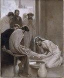 Jesus Washing the Feet of his Disciples (Albert Edelfelt) - Nationalmuseum - 18677.tif