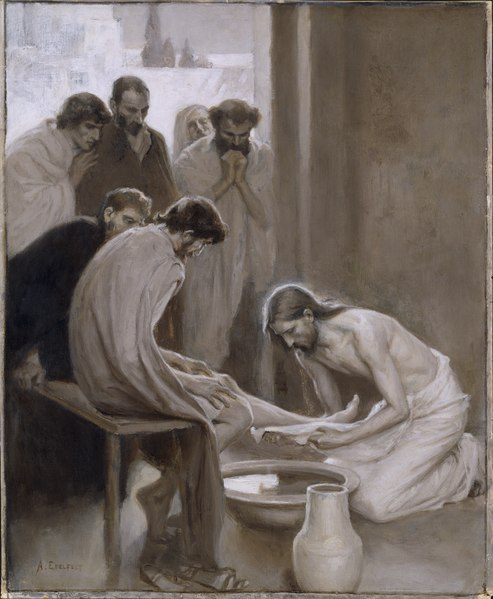 Jesus Washing the Feet of his Disciples (Albert Edelfelt) - Nationalmuseum - 18677