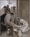 Jesus Washing the Feet of his Disciples (Albert Edelfelt) - Nationalmuseum - 18677.tif
