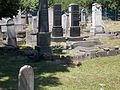Jewish cemetery. Old graves. Monument ID 3840. - Szentendre, Hold Street.JPG
