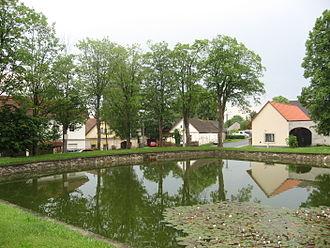 Jiřice (Pelhřimov District) - Image: Jiřice, rybníček
