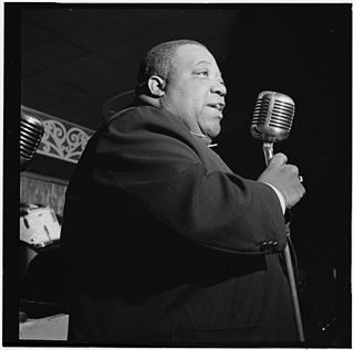 Jimmy Rushing American blues and jazz singer