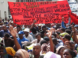 Joe Slovo, Cape Town - Joe Slovo mass protest at the Cape High Court in December 2007