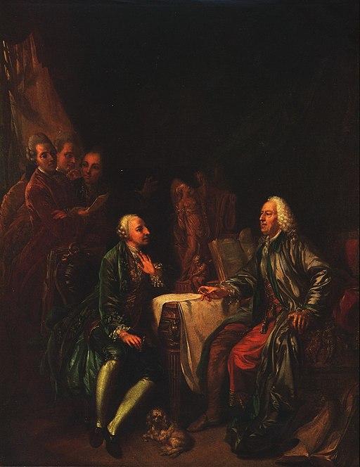 Johann Eleazar Zeissig, genannt Schenau: Das Kunstgespräch
