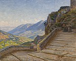 Johannes Wilhjelm, Landskab fra Civita d'Antino, Ca. 1895-1900, SKM1332, Skagens Kunstmuseer.jpg