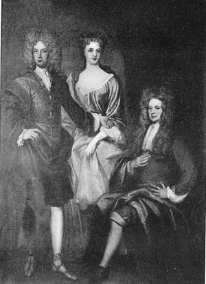 George Gordon, 1st Duke of Gordon - George, 1st Duke of Gordon with his son, Alexander (later 2nd Duke of Gordon and his daughter, Jane, Duchess of Perth