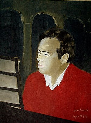 John S. Beckett - Portrait of John Beckett by Reginald Gray.1953. collection St.Columbas College. Dublin.