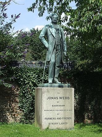 Jonas Webb - Statue of Jonas Webb in Babraham, Cambridgeshire