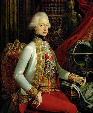 Ferdinand III, Grand Duke of Tuscany - Grand Duke Ferdinand sitting in his library, 1797, after Joseph Dorffmeister