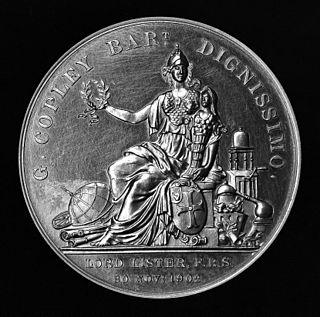 Copley Medal award given by the Royal Society of London