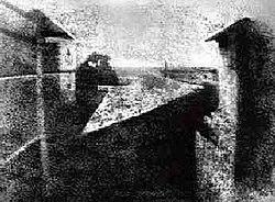 J.N. Niépces første fotografi fra 1826