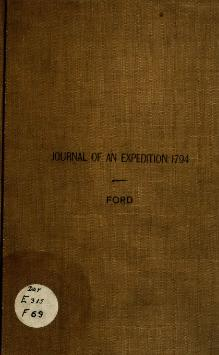 Journal of an Expedition 1794.djvu