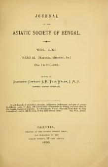 Journal of the Asiatic Society of Bengal Vol 61, Part 2.djvu