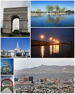 Collage of Juárez scenes.