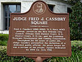 Judge Fred J. Cassibry Square - historical marker.jpg