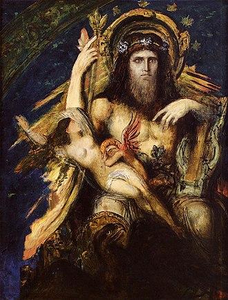 Luceafărul (poem) - Image: Jupiter and Semele by Gustave Moreau (1889 1895)