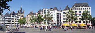 Innenstadt, Cologne - Heumarkt, square in Altstadt-Nord and Altstadt-Süd