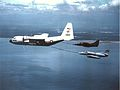KC-130F of VMGR-152 refueling A-4E and A-4PTM in 1987.jpg