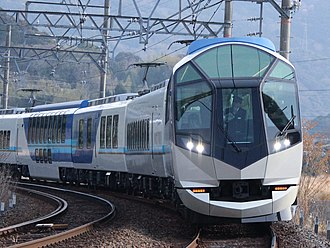 Kintetsu Railway - 2014 Blue Ribbon Award winner 50000 series on a Shimakaze limited express service