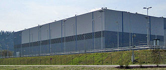 Isar Nuclear Power Plant - Fuel assembly container storage facility on the area of the Isar nuclear power plant