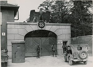 Dachau concentration camp - Image: KZ Dachau 1945